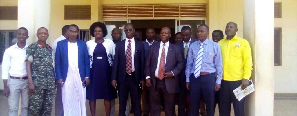The outgoing  and  the incoming Chief Administrative officers for Mukono District